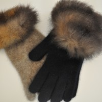 9992 Fur trimmed gloves range
