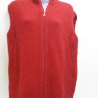 9978 Ladies zip vest with rib detail.